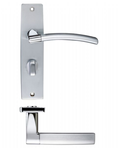 Amalfi Lever On Backplate ZPZ083SCCP  - Bathroom Duel Finish